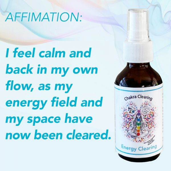 energy clearing vibrational spray